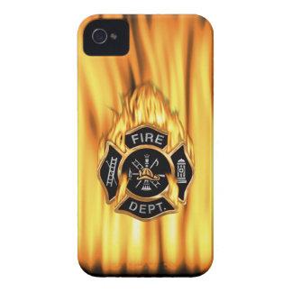 Flammes de corps de sapeurs-pompiers coques Case-Mate iPhone 4