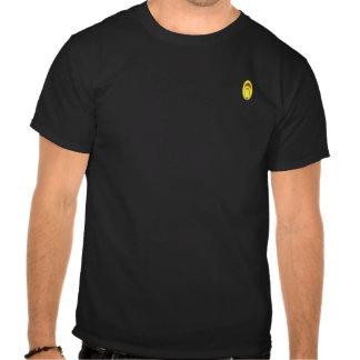Flammes sur la chemise noire t-shirts
