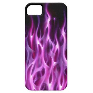 Flammes violettes - cas de l'iPhone 5 Coques iPhone 5