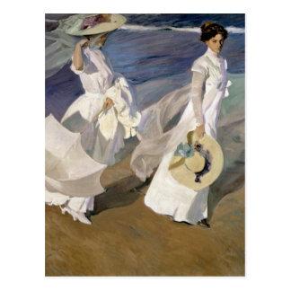 Flânant le long du bord de la mer, 1909 carte postale