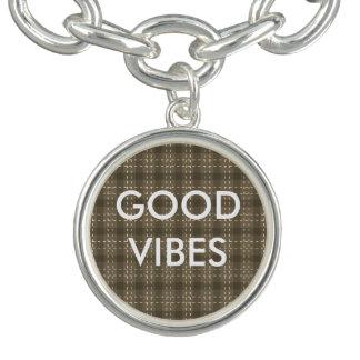Flanelle grise/bon vibraphone bracelets avec breloques