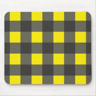flanelle noire jaune tapis de souris