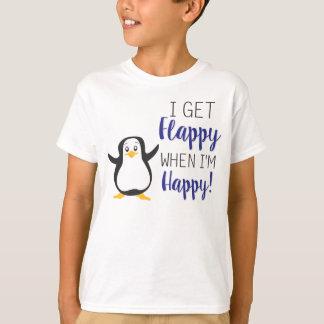 Flappy quand je suis chemise heureuse t-shirt