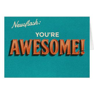 Flash d'information : 'Vous êtes Awesome Cartes
