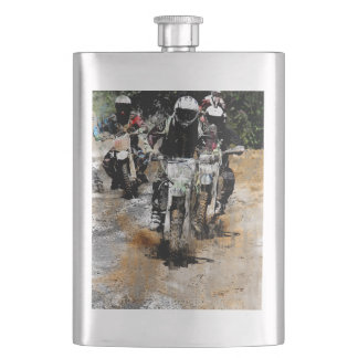 Flasque Approchant ! - Coureur de motocross