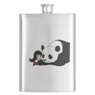 Flasque Fille et panda