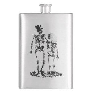Flasque Image vintage de couples squelettiques de mariage
