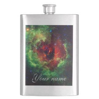 Flasque La nébuleuse rose de rosette de licornes
