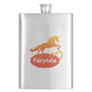 Flasque Licorne de conte de fées avec amour