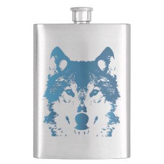 Flasque Loup de bleu glacier d'illustration
