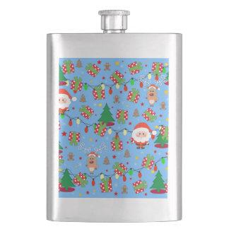 Flasque Motif de Père Noël et de Rudolph