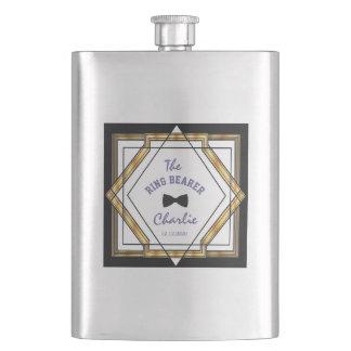 Flasque PORTEUR D'ALLIANCES blanc d'art déco de grand or
