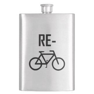 Flasque Réutilisez le vélo de bicyclette