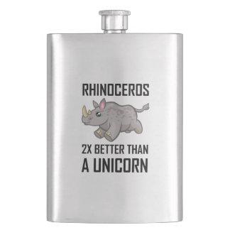 Flasque Rhinocéros meilleur que la licorne