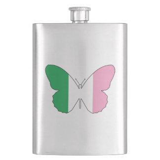 Flasque Terre-Neuve Buttlerfly tricolore