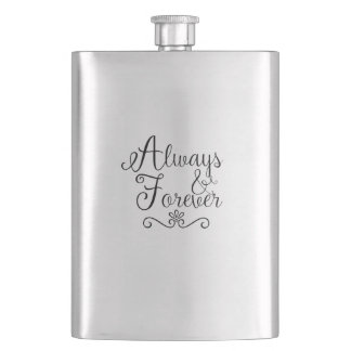 Flasque Toujours et pour toujours épousant le cadeau de