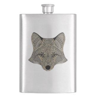 Flasque Visage métallique de Fox