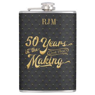 Flasques 50 ans dans la fabrication, noir/anniversaire de