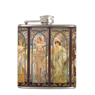 Flasques Alphonse Mucha, The Times du jour