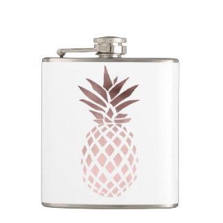 Flasques ananas tropical d'or rose clair élégant de faux