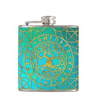 Flasques Arbre de la vie - alphabet de Yggdrasil et de