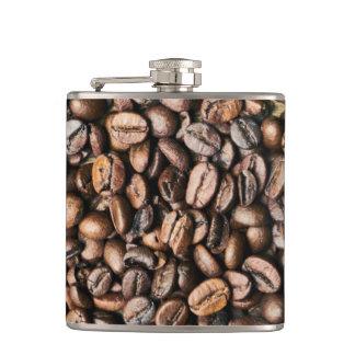 Flasques Arrière - plan de grain de café de Brown