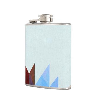 Flasques Art géométrique bleu rouge