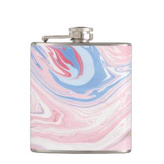 Flasques Art moderne élégant en pastel de marbre de luxe de
