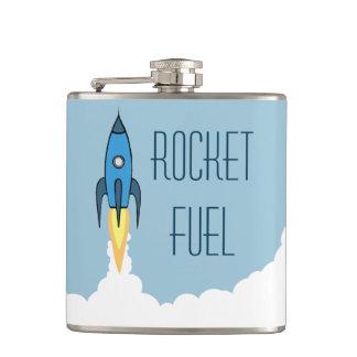 Flasques Bande dessinée bleue Rocketship d'ergol