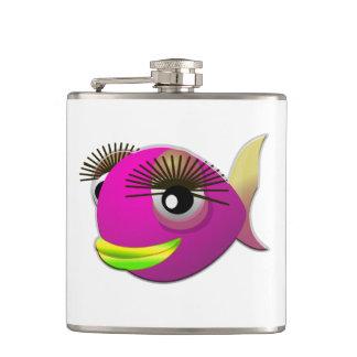 Flasques Beaux poissons roses tropicaux de fille