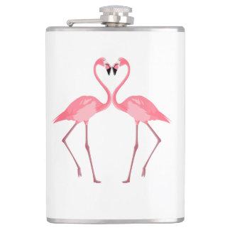 Flasques Bel amour rose de flamants