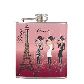 Flasques Belle célébration rose de Paris