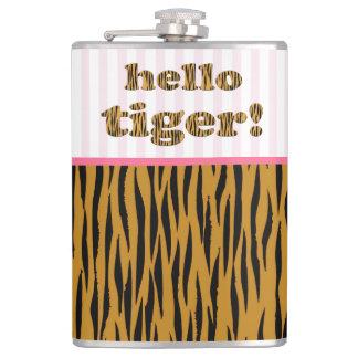 Flasques Bonjour tigre !  citation rose Tigerprint