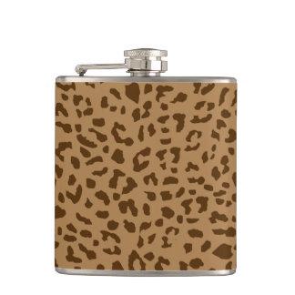 Flasques Brun frais de motif d'impression de peau de