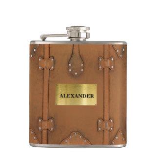 Flasques Caisse simili cuir de Steampunk-Cru