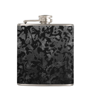 Flasques Camouflage gris noir et foncé de Camo moderne -