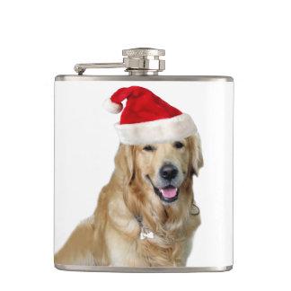Flasques Chien-animal familier de Labrador Noël-père Noël