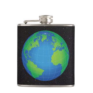 Flasques Ciel étoilé de carte de globe du monde