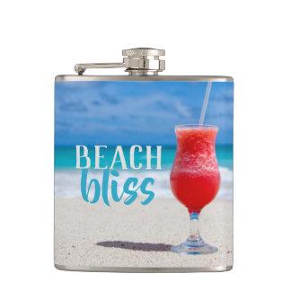 Flasques Cocktail tropical de bonheur de plage