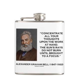 Flasques Concentrez toutes vos pensées sur la citation de