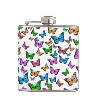 Flasques Conception de motif de papillons