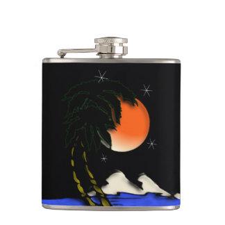 Flasques Conception de nuit d'île