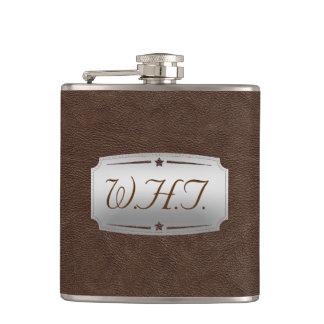 Flasques Copie élégante de cuir de Brown de Faux