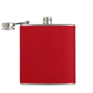 Flasques Couleur rouge simple