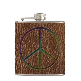 Flasques Couleur simili cuir de paix