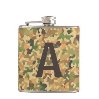 Flasques Couleurs décorées d'un monogramme d'automne de