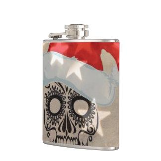 Flasques Crâne de Noël avec le bokeh d'étoile