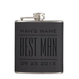 Flasques Cuir Cadeau-Noir de Faux du meilleur homme