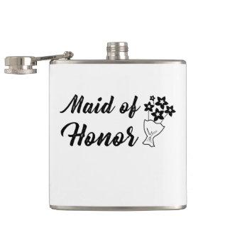 Flasques Domestique d'honneur avec le cadeau de mariage de