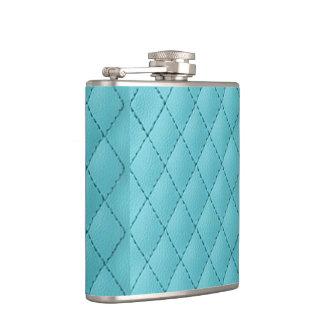 Flasques hippie bleu-clair de graphique de cuir de faux